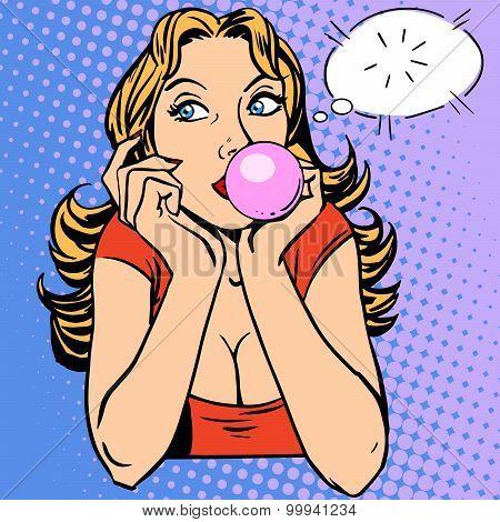 Gum girl bubble