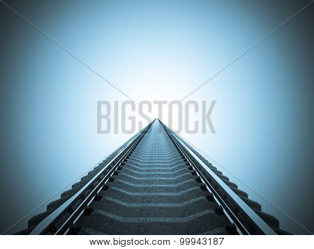 Railroad perspective isolated view.