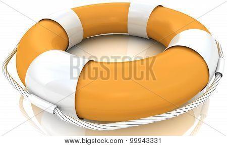 Isolated 3d life buoy