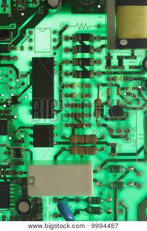 Back Lit Electronic Circuit Board