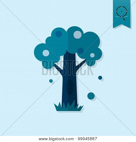 Stylized Tree with Hollow