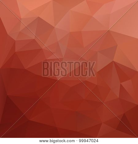 Vector Polygonal Background Pattern - Triangular Design In Red Colors -
