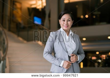 Pretty Middle-aged Business Lady