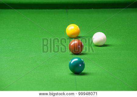Snooker Ball On Green Surface Table