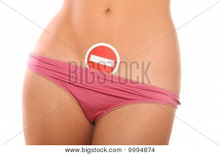 Prohibiting Sign On Female Shorts