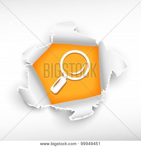 Magnifier And Breakthrough Paper Hole