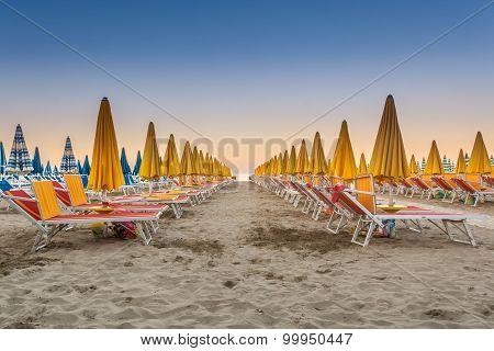 The Deserted Beach Before Sunset