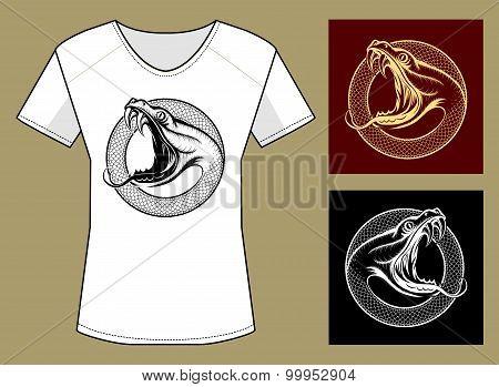Snake Head Print Template