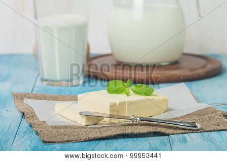 Butter On Sheet Of Paper