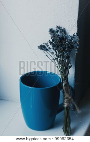 Lavender with cup