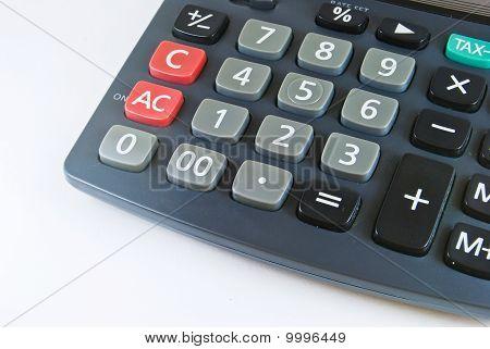 Black Calculator Closeup Detail
