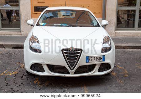 White Alfa Romeo Giulietta Type 940 Car