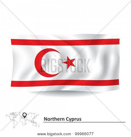 Flag of Northern Cyprus - vector illustration