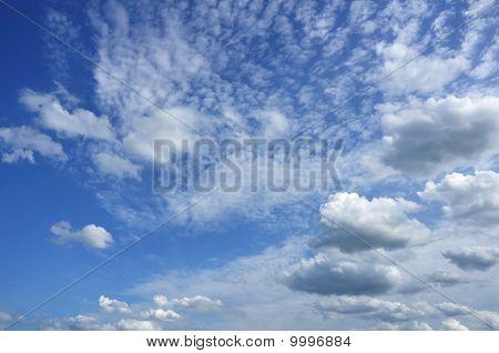 Cumulus And Altocumulus Clouds