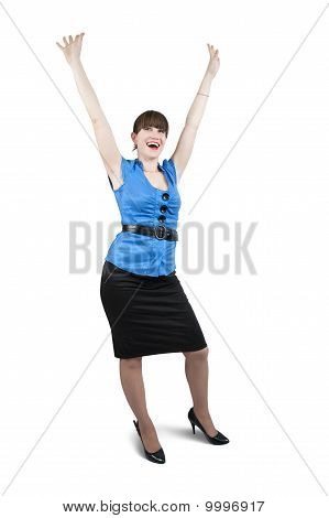 Shot Of Happy Businesswoman