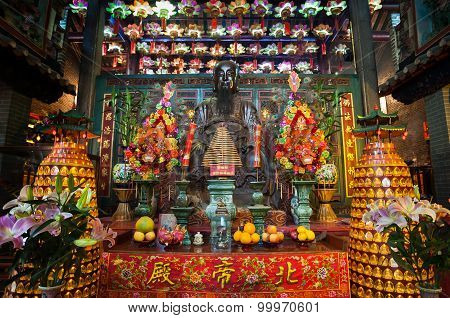 Main Altar At Pak Tai Temple, Wanchai, Hong Kong