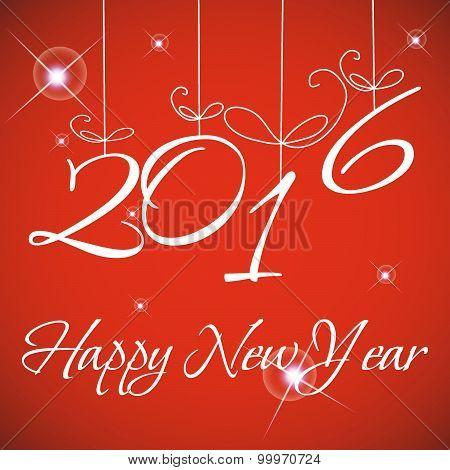 Happy New 2016 Year. Vector illustration