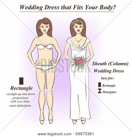 Woman In Underwear And Sheath Wedding Dress.