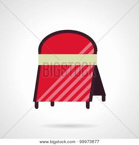 Cafe advert board vector icon flat style