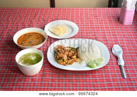 Set Meal Onboard The Chiang Mai To Bangkok Overnight Train, Thailand