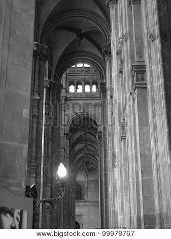 Church interior Saint-Eustache Paris