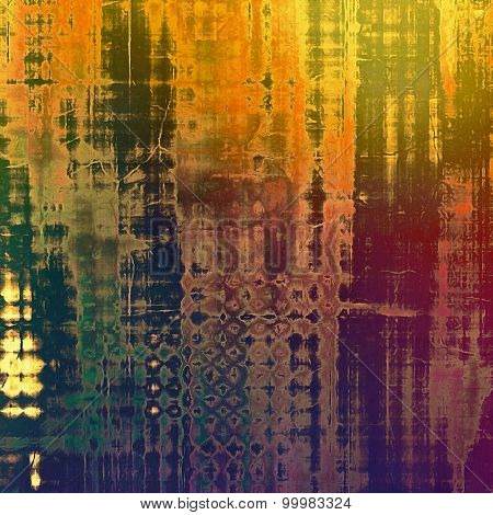 Old abstract grunge background for creative designed textures. With different color patterns: yellow (beige); green; purple (violet); blue