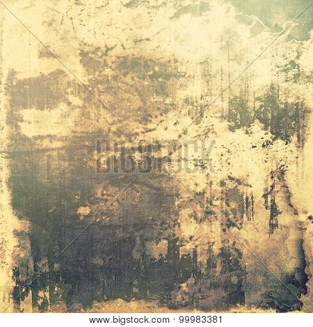 Grunge texture, may be used as retro-style background. With different color patterns: yellow (beige); brown; green; gray