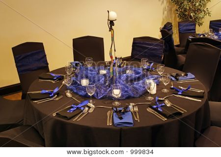 Black Table Setting