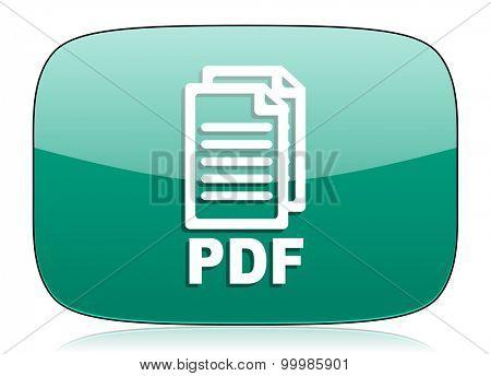 pdf green icon pdf file sign