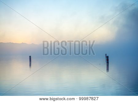 Lake In Morning Mist