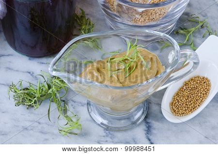 Herbs And Spices. Tarragon Mustard.