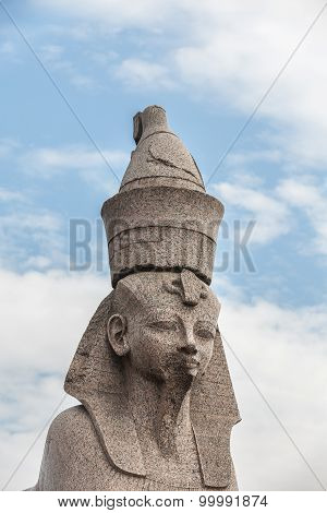 Sphinx On Embankment  Of The Neva River, St. Petersburg