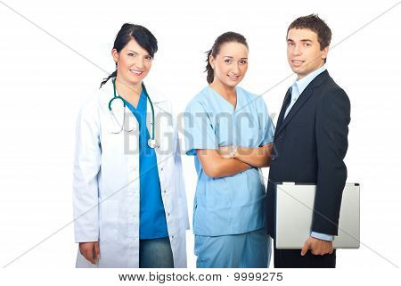 Doctors Women And Businessman
