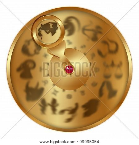 Aquarius On A Golden Disk