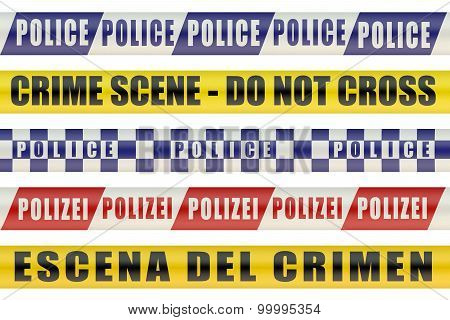 Set Of Police Lines