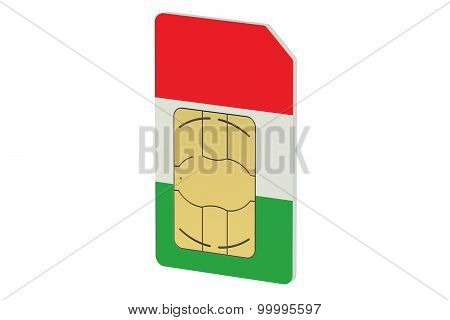 Sim Card With Flag Of Italy