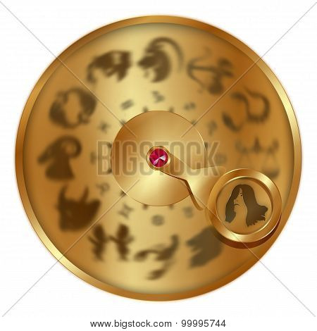 Virgo On A Golden Disk