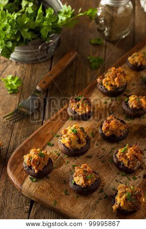 Homemade Sausage Stuffed Mushrooms