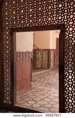 Delhi, India - November 4: Interior Of Humayun's Tomb On November 4, 2014 In Delhi, India. Humayun's