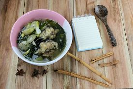 pic of om  - This is a local foods of Thailand the name is  - JPG