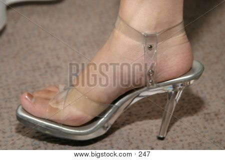 Foot And Clear High Heel